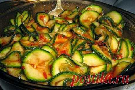 Кулинарные Рецепты: Кабачки маринованные мгновенного поедания