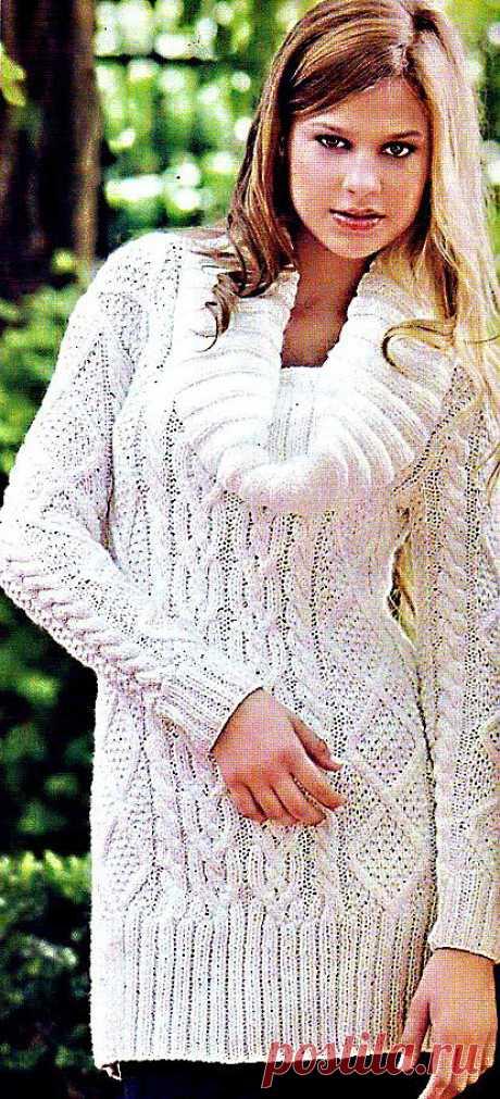 Вязание свитера спицами - Вязание спицами, модели и схемы для вязания на спицах