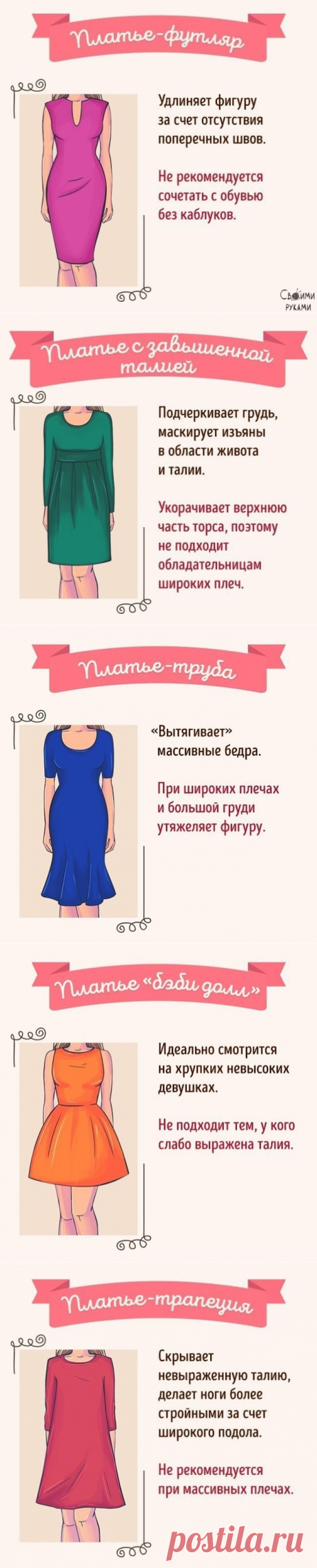 We choose an ideal dress under the type of a figure