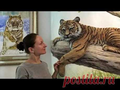 Барельеф Тигр обзор этапы рекомендации / художник Наталья Боброва