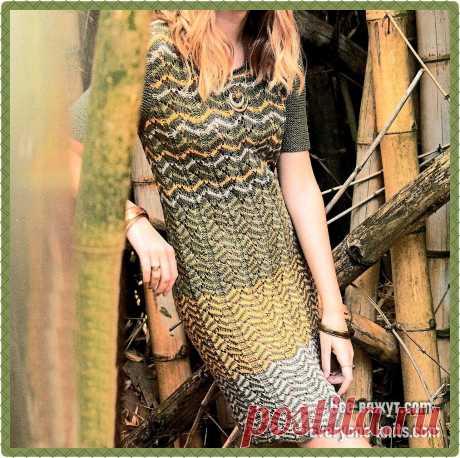 Летние вязанные платья. Часть 2. 10 моделей для вязания спицами. | Все вяжут.соm/Everyone knits.com | Яндекс Дзен