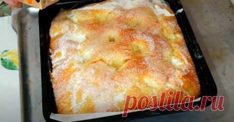 Необыкновенно вкусная сдоба: сахарно-масляный пирог, воздушное объедение
