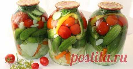 """Как приготовить овощное ассорти """"Огород"""" Овощи на любой вкус – в одной банке!"""