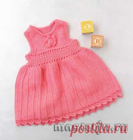 Платье для девочек от 1 до 2 лет спицами » Мастерю - все своими руками