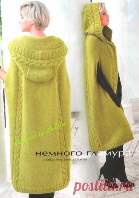 Модное пальто спицами | рукоделие | Яндекс Дзен