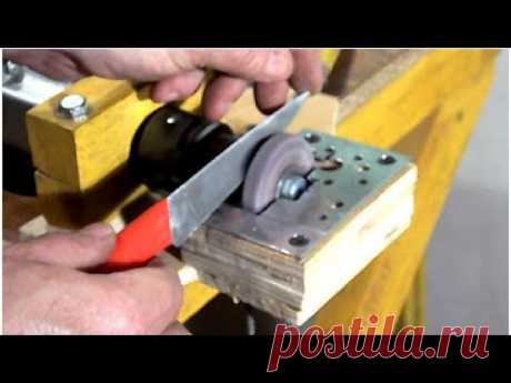 Self-made Tool-grinding the Machine From the Drill