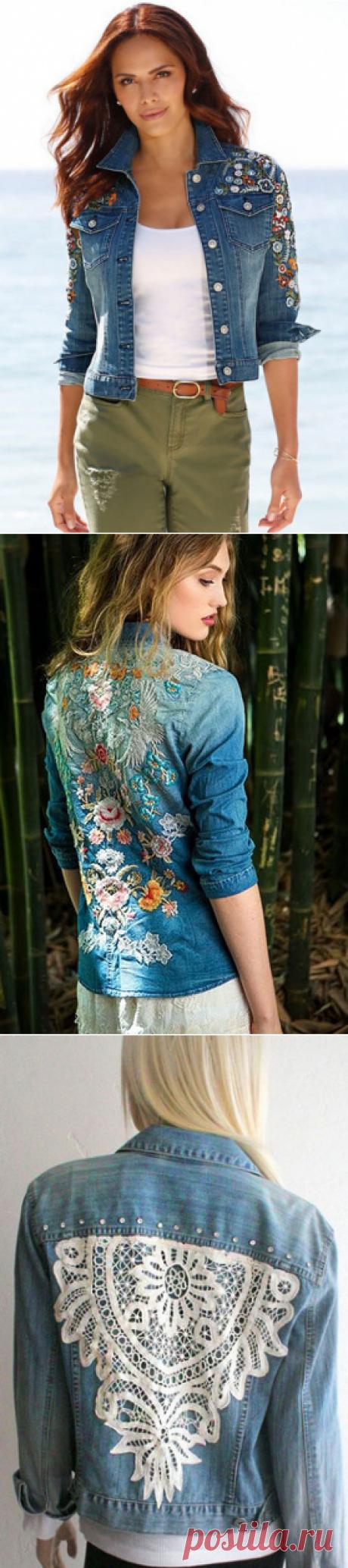 Многообразный декор джинсовых курток: более 20 потрясающих вариантов… — Це Цікаво