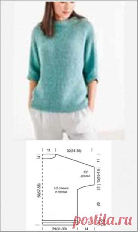 Модели и выкройки свободных вязаных пуловеров | Embroidery art | Яндекс Дзен