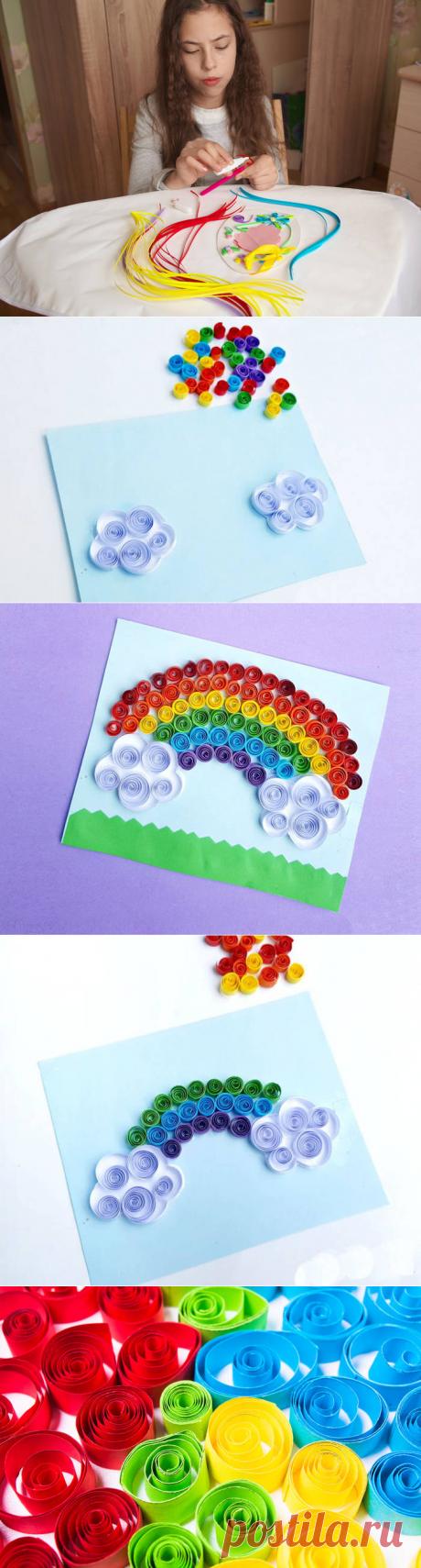 Квиллинг для детей: яркая радуга своими руками