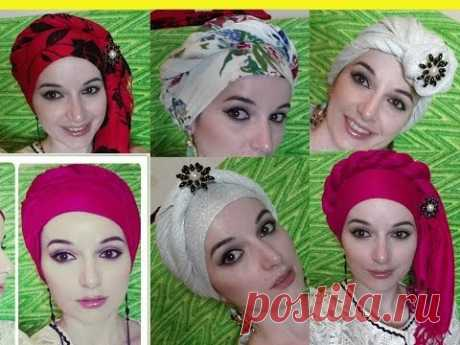 HOW to tie the TURBAN \/ DIFFERENT WAYS \/ the TURBAN ON HEAD \/ Alisa130287