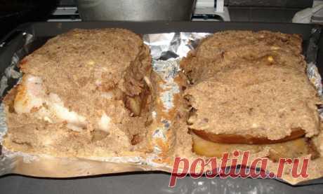 Сало, запеченное в хлебе, ингредиенты, рецепт сала запеченного в хлебе