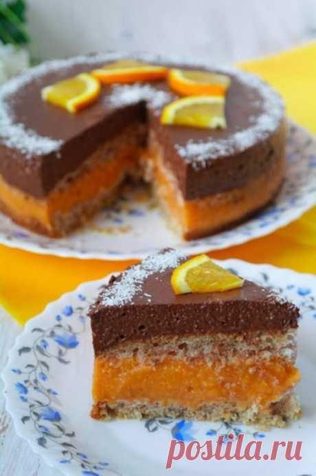 Шоколадно-абрикосовый торт (постный) - Кулинарный рецепт - Повар в доме