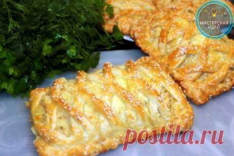 Вкуснятина из простых продуктов: пироги с курицей и картошкой, даже остыть не успевают (делюсь рецептом) | Мастерская идей | Яндекс Дзен
