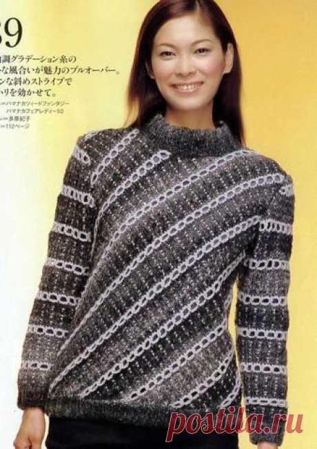 Теплый пуловер спицами | Вязание и рукоделие