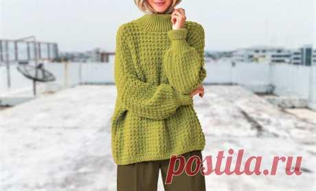 3 эффектных свитера, которые можно связать своими руками (описание и схемы) | Идеи рукоделия | Яндекс Дзен