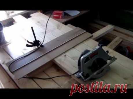 """Отторцевать и нарезать в размер пять кубов досок на очень ограниченном пространстве мастерской нам помогла """"прилада"""",которую на своём канале Voxa 54 показал ..."""