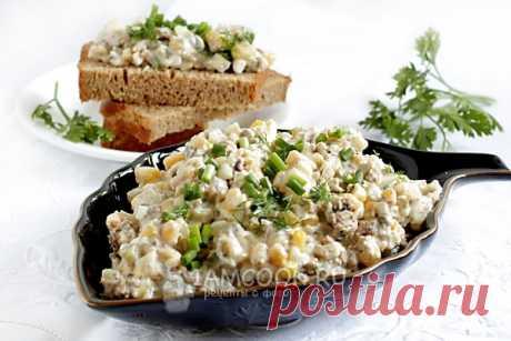Шпротный салат-намазка, рецепт с фото