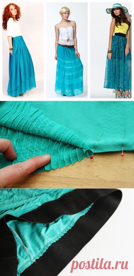 Шьём юбку-макси цвета лета