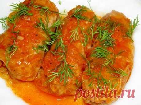 Вкусно - #ГОЛУБЦЫ в Томатно-Овощном Соусе ГОЛУБЦЫ #Рецепт вкуснейших ГОЛУБЦОВ с Фаршем