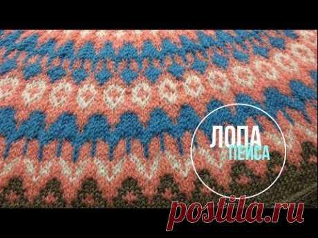 Лопапейса - свитер с круглой кокеткой из Drops Flora (подробно)