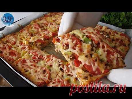 Такой ЛЕГКОЙ пиццы никто не видел 😍 Много подносов, вкусная пицца 😋ОБЯЗАТЕЛЬНО ПОПРОБУЙТЕ НА ЗАВТРАК