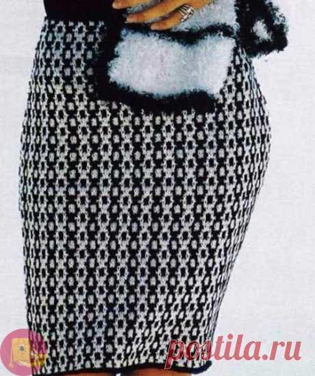 Элегантная жаккардовая юбка спицами — Сделай сам, идеи для творчества - DIY Ideas