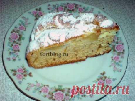 Яблочный пирог на кефире - Простые рецепты Овкусе.ру