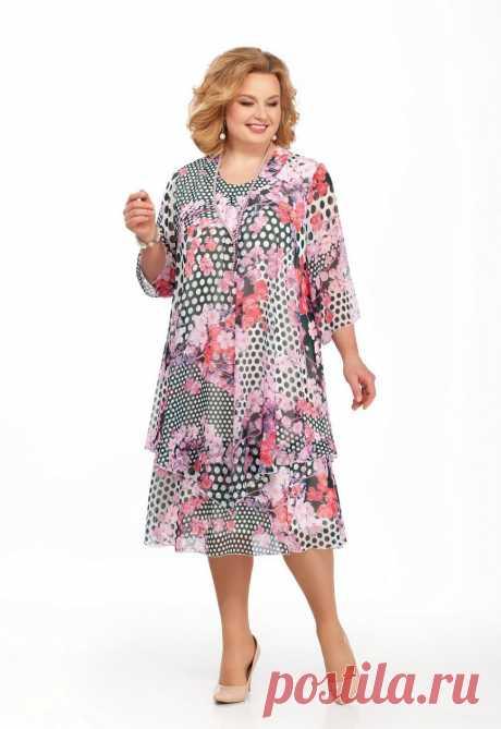 Платье, Pretty, 242 Розовый с черным Официальный интернет магазин Дама бай