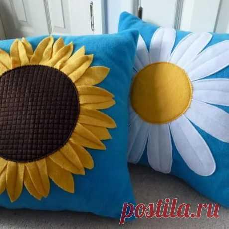 Daisy fleece cushion / Рукоделие / Рукоделие(декоративные подушки) / Pinme.ru / Pinme в Яндекс.Коллекциях