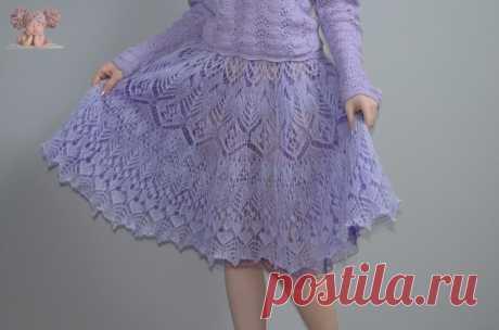 """Мохеровая юбка """"Лавандовое настроение"""" из категории Интересные идеи – Вязаные идеи, идеи для вязания"""