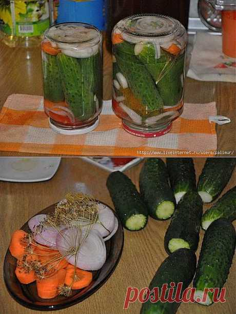 "MARINATED CUCUMBERS ""Bulgaria has a rest\""."