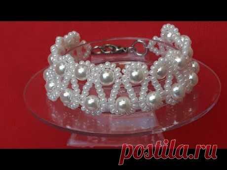 Linda y Elegante Pulsera de Perlas...Clase #165!!!
