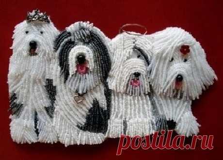 Вышивка бисером: пастушьи собаки