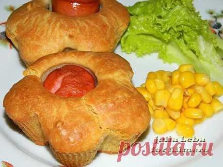 Кексы с сосисками / Рецепты с фото