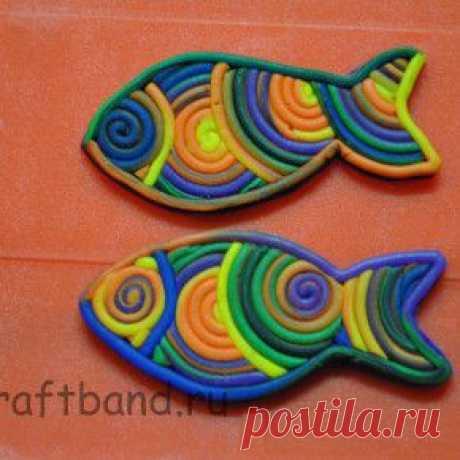 Урок. Утилизация остатков полимерной глины. Рыба. - Блог о творчестве и рукоделии.