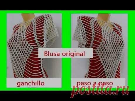 Blusa original tejidos a ganchillo paso a paso #84
