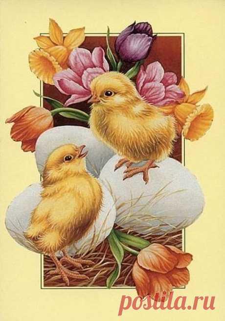 Схема вышивки «птички» - Вышивка крестом