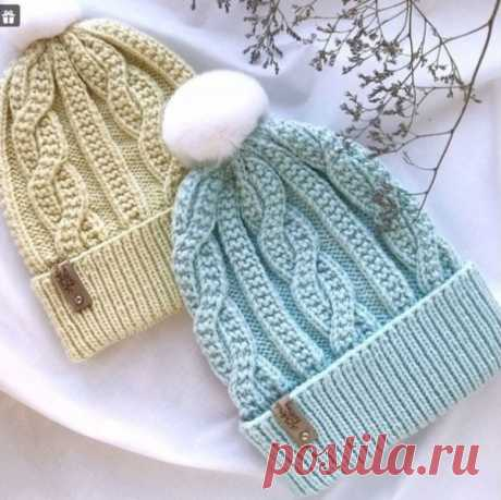 Узор для вязания шапки спицами | Узоры вязания спицами