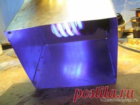УФ лампа для домашней лаборатории Существуют несколько современных несложных процессов с применением источника ультрафиолетового (УФ) света, использование которых в домашней лаборатории или мастерской может быть очень полезным. Это перенос изображений с использованием фоточувствительных материалов (лак, самоклеящаяся пленка) и
