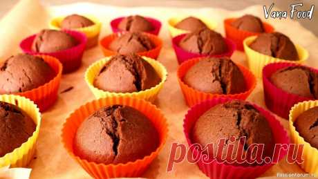Шоколадные кексы на кефире | Кулинария