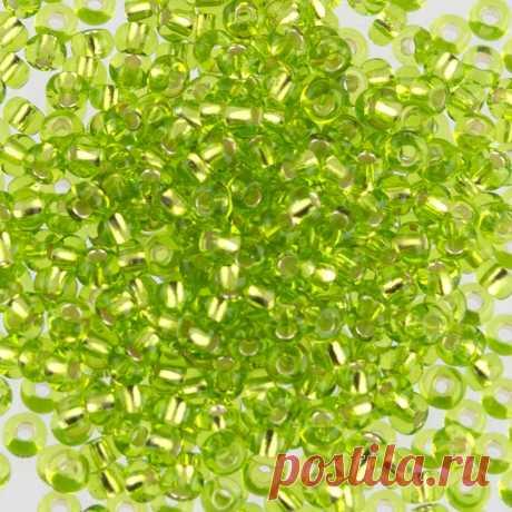 """Бисер круглый """"Zlatka"""", 8/0, 500 грамм, цвет: 0024 салатовый, арт. GR 08/0  """