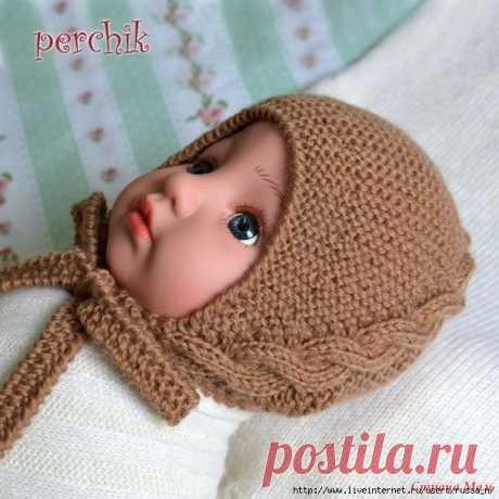 Чепчик для малыша (идеальная посадка!!!) с дополнениями от Nata_Bykova