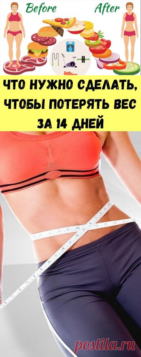 Что нужно сделать, чтобы потерять вес за 14 дней - Советы для тебя