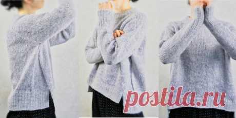Модный свитер Watayuki Модный свитер спицами свободного фасона оверсайз в японском стиле с описанием для девушек и полных женщин.