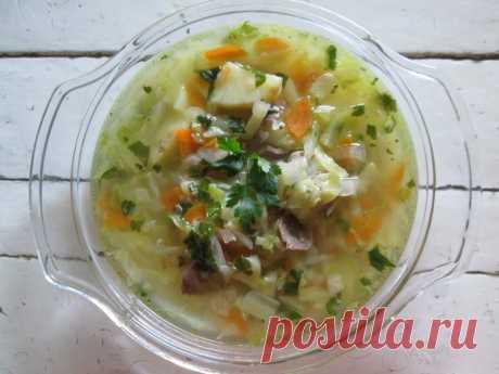 Густой овощной суп с желудочками