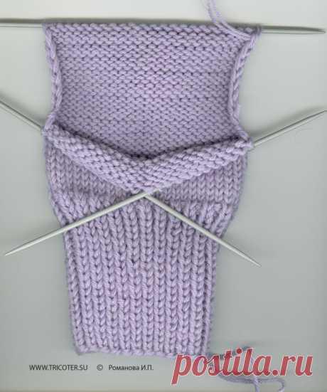 tricoter.su - Спицы - Техника - Как вязать носки на пяти спицах.