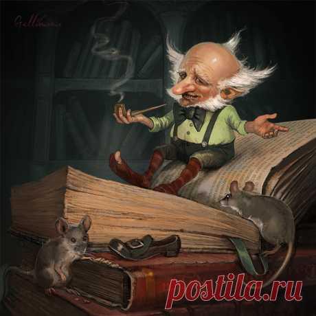Иллюстрация Оле Лукойе.  Gellihana