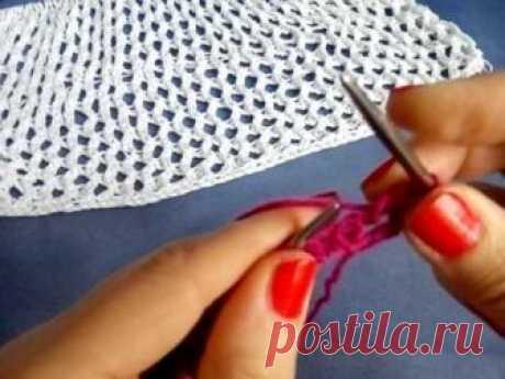 "Узор ""Сетка"". Вязание спицами. Мой инстаграм: https://www.instagram.com/knitting_elvira/ Мои мастер-классы: https://youtu.be/oxqMMJ2qDc8 Мой канал: https://www.youtube.com/channel/UC2cjXCd..."