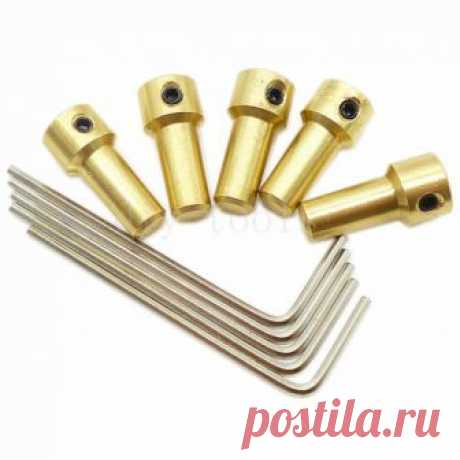5x Brass Motor Shaft Coupler 3.17mm Coupling Rod Set For JT0 Drill Chuck 0.3-4mm | eBay   !!!   engine shaft Coupling - вала двигателя Муфта