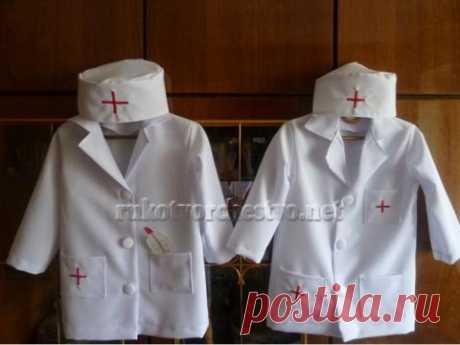 Медицинский халат для доктора Айболита | Рукотворчество